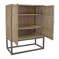 Venice Solid Wood Tall Sideboard/Storage Cupboard For Sale